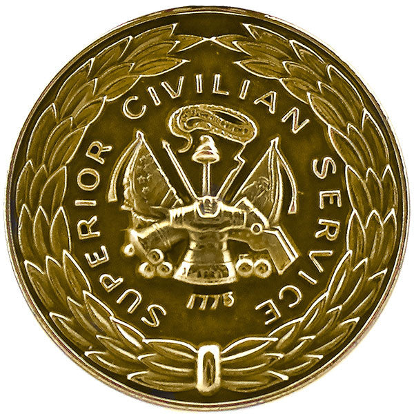 Army Superior Civilian Service Award Medal Lapel Pin