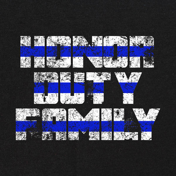 Honor Duty Family Police T-Shirt