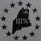 Vintage Maine State III Percenter T-Shirt