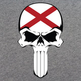 Alabama State Flag Skull T-Shirt