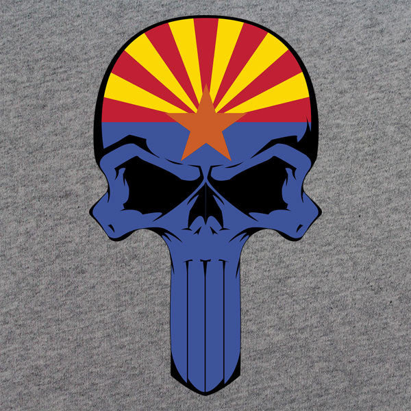 Arizona State Flag Skull T-Shirt