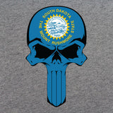 South Dakota State Flag Skull T-Shirt