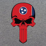 Tennessee State Flag Skull T-Shirt