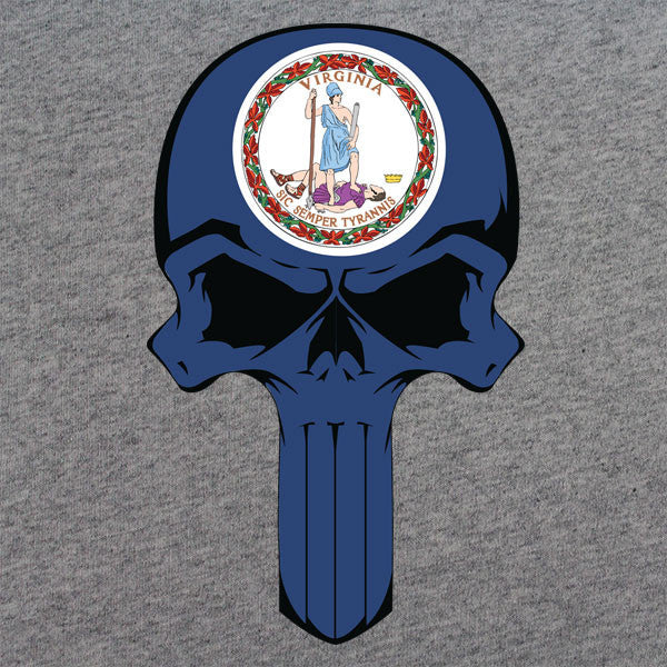Virginia State Flag Skull T-Shirt