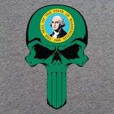 Washington State Flag Skull T-Shirt