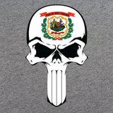 West Virginia State Flag Skull T-Shirt