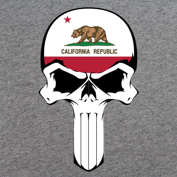California State Flag Skull T-Shirt