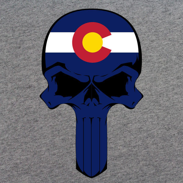 Colorado State Flag Skull T-Shirt