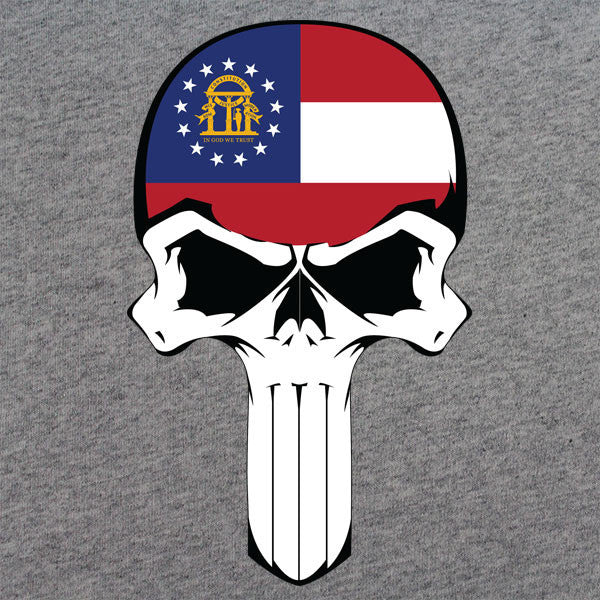 Georgia State Flag Skull T-Shirt