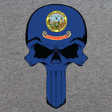 Idaho State Flag Skull T-Shirt