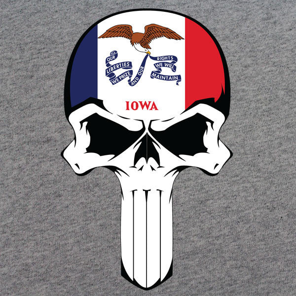 Iowa State Flag Skull T-Shirt
