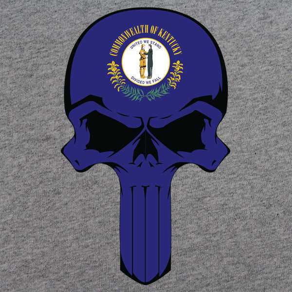 Kentucky State Flag Skull T-Shirt