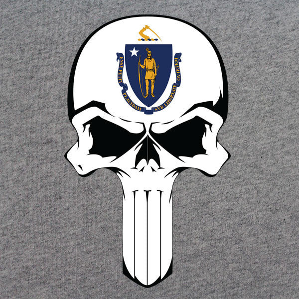 Massachusetts State Flag Skull T-Shirt