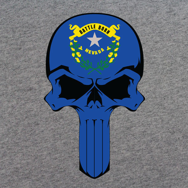 Nevada State Flag Skull T-Shirt