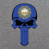 New Hampshire State Flag Skull T-Shirt
