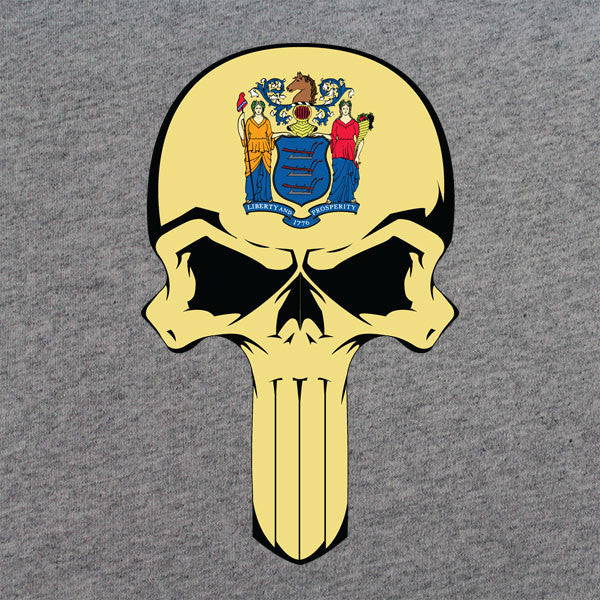 New Jersey State Flag Skull T-Shirt