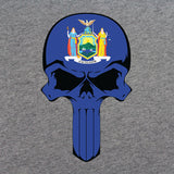New York State Flag Skull T-Shirt