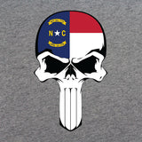 North Carolina Flag Skull T-Shirt