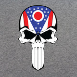 Ohio State Flag Skull T-Shirt