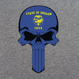 Oregon State Flag Skull T-Shirt