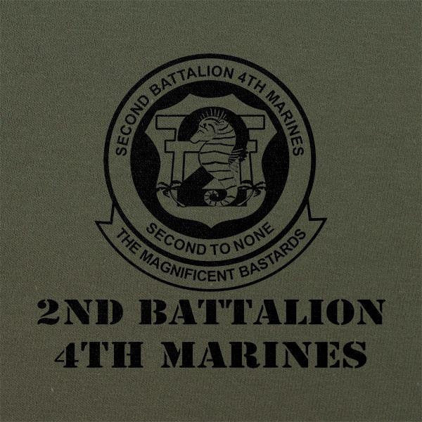 Subdued Marine Corps Unit T-Shirt 2nd Btn 4th Marines