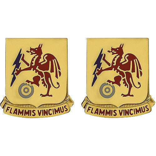2nd Chemical Battalion Unit Crest (Flammis Vincimus)