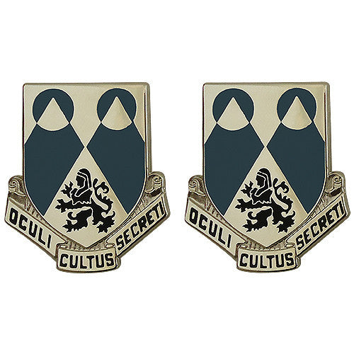 2nd Military Intelligence Battalion Unit Crest (Oculi Cultus Secreti)