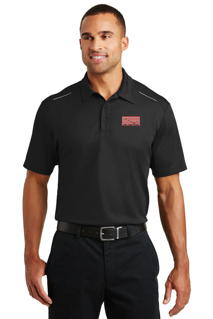 Navy Jack Flag Performance Golf Polo