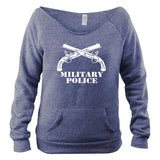 Military Police Branch Wide Neck Fleece Sweatshirt
