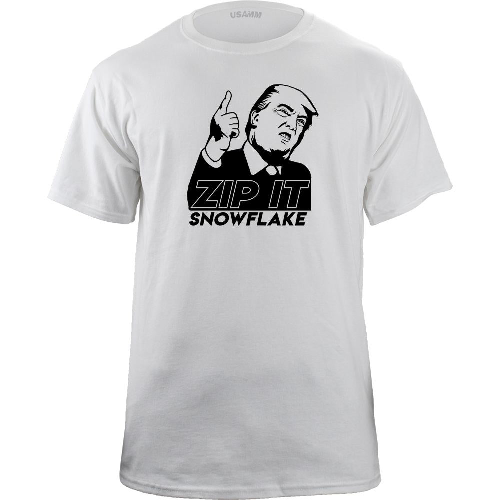 Zip It Snowflake Graphic T-Shirt