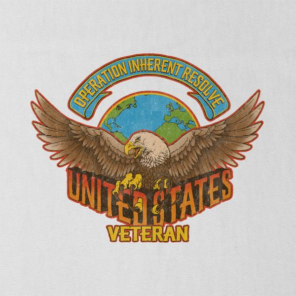 Vintage Operation Inherent Resolve Veteran Graphic T-Shirt