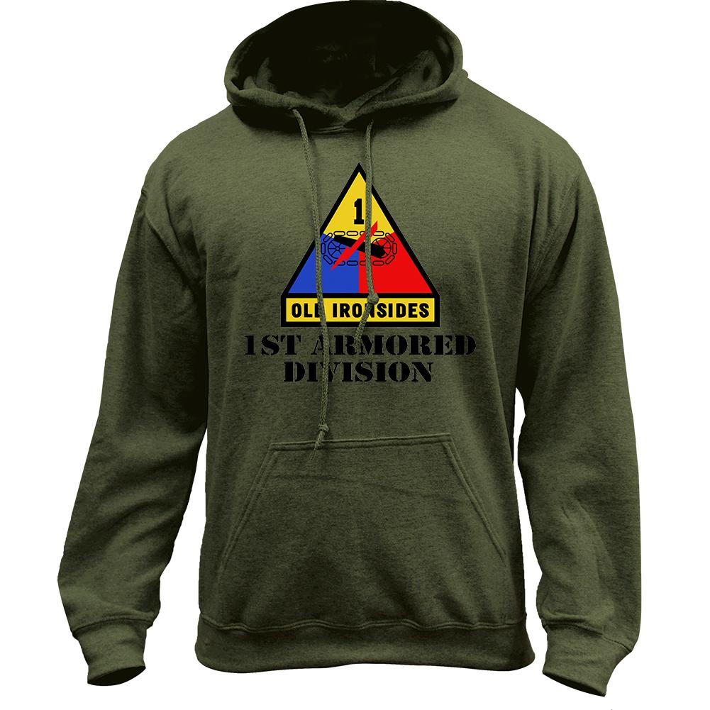 1st Armored Full Color Pullover Hoodie