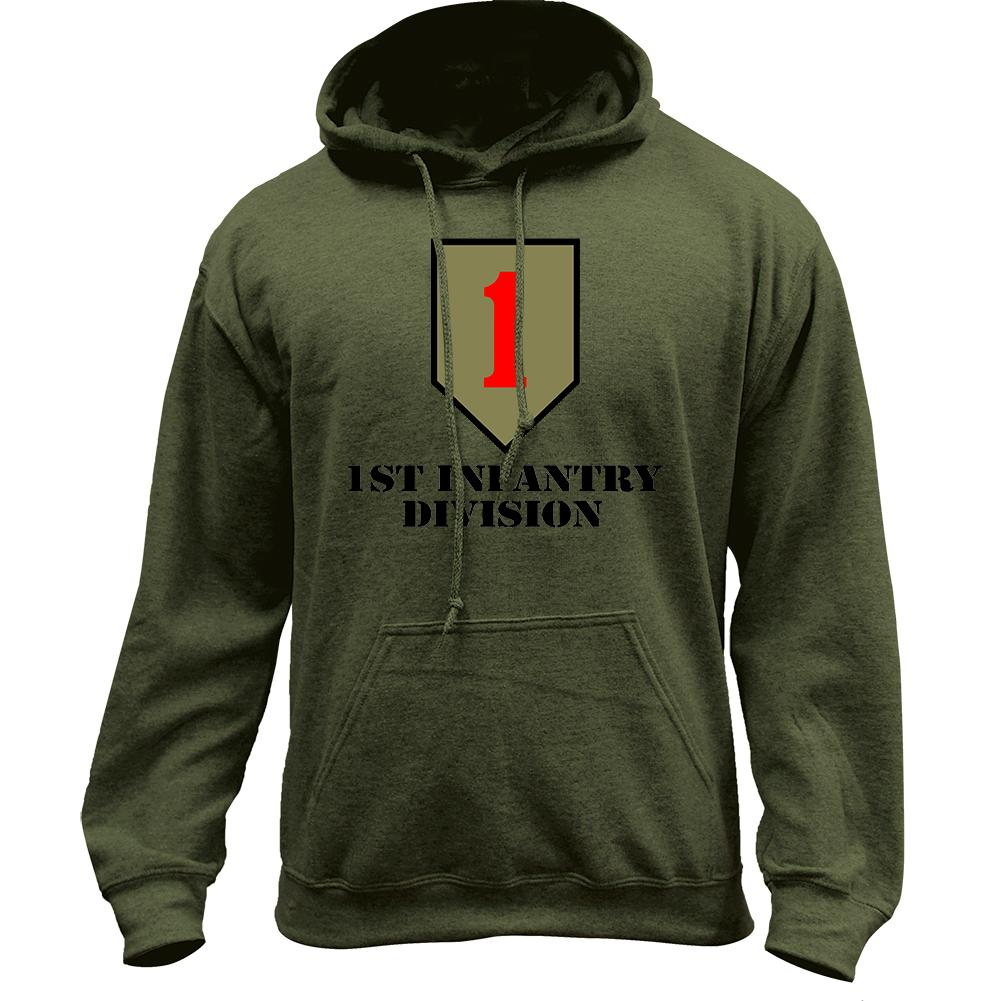 1st Infantry Division Full Color Pullover Hoodie