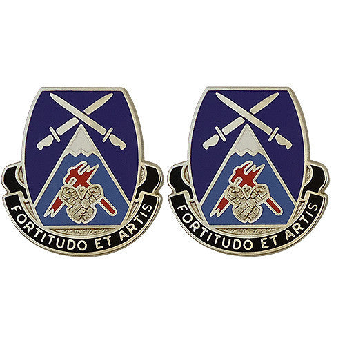 Special Troops Battalion, 3rd Brigade, 10th Mountain Division Unit Crest (Fortitudo Et Artis)