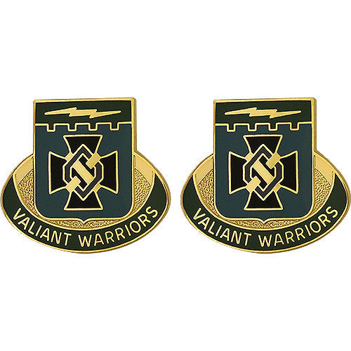 Special Troops Battalion, 3rd Brigade, 1st Infantry Division Unit Crest (Valiant Warriors)