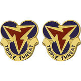 3rd Signal Brigade Unit Crest (Triple Threat)