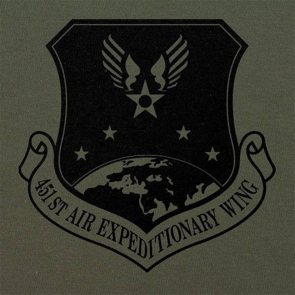 451st Air Expeditionary Wing Subdued Patch T-Shirt