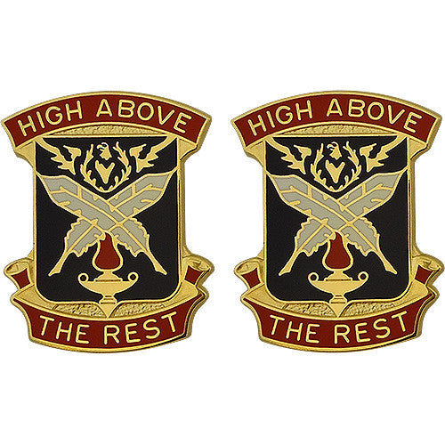 4th Adjutant General Battalion Unit Crest (High Above the Rest)