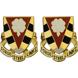 4th NCO Academy Unit Crest (Forge Steel Links)