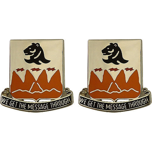 4th Signal Battalion Unit Crest (We Get the Message Through)