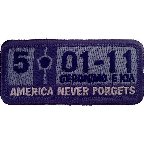 5-1-11 America Never Forgets ACU Patch