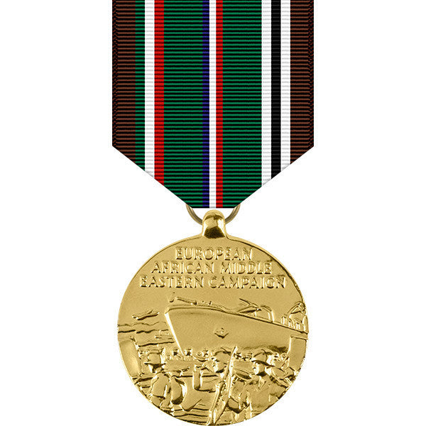 European - African - Middle Eastern Campaign Anodized Medal