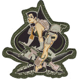 Ace of Spades Pinup Girl Patch
