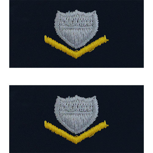 U.S. Coast Guard E-4 - Petty Officer 3rd Class (Embroidered Collar Insignia Rank)