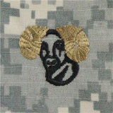 Army Rams Head ACU Sew On Badge