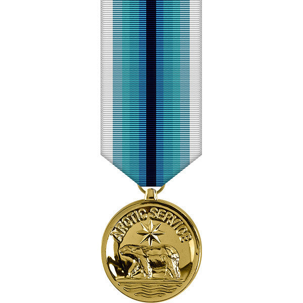 Coast Guard Arctic Service Anodized Miniature Medal