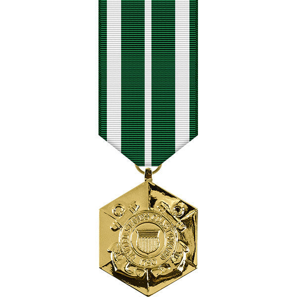 Coast Guard Commendation Anodized Miniature Medal