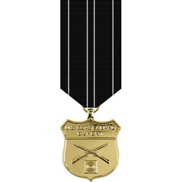 Coast Guard Expert Rifle Anodized Miniature Medal