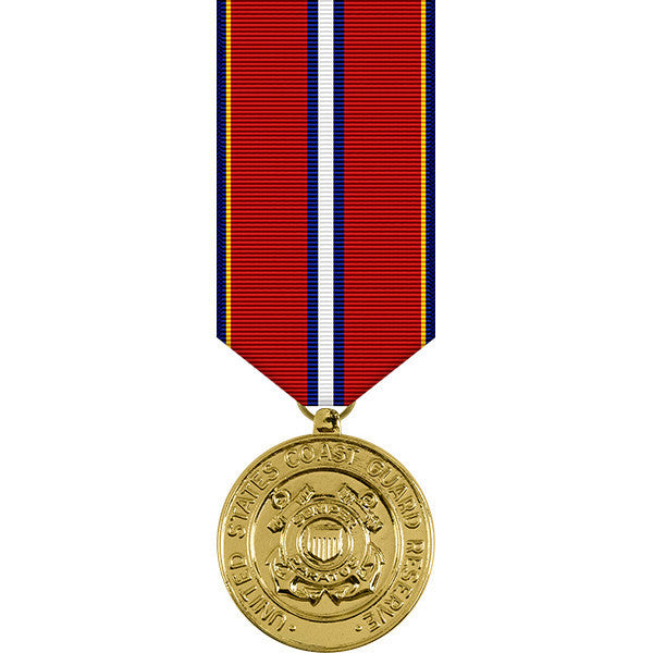 Coast Guard Reserve Good Conduct Anodized Miniature Medal