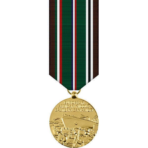 European - African - Middle Eastern Campaign Anodized Miniature Medal